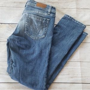 Vigoss Skinny Medium Wash Mid Rise stretch
